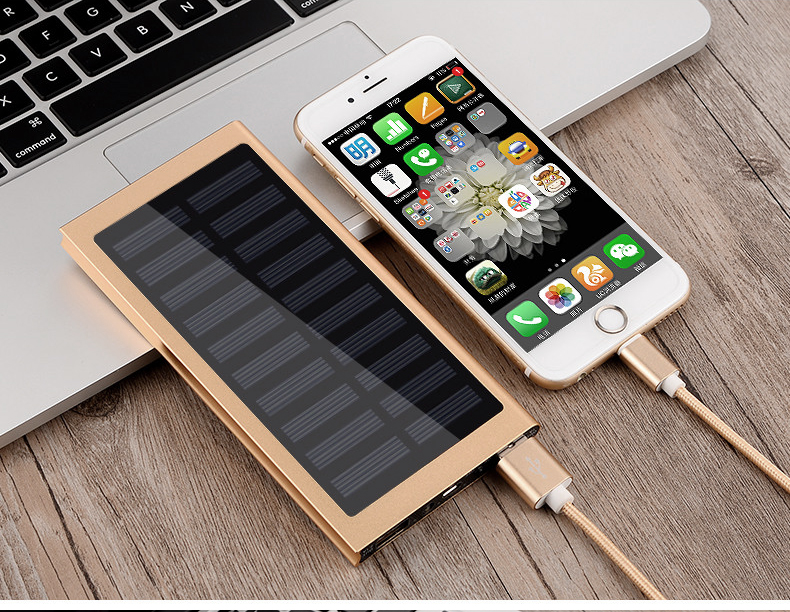 Waterproof 30000mAh Solar Power Bank in Metal Shell Design with Dual-USB Ports 13