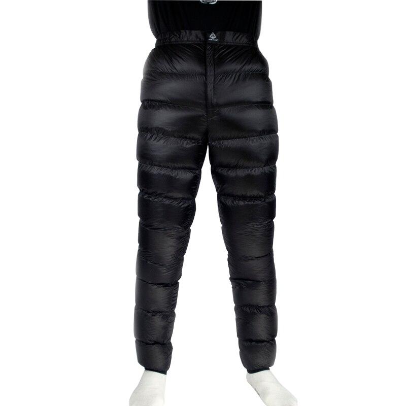 Лед пламя легкий зимний 800PF 90% белый гусиный пух брюки клеш для Пеший Туризм Кемпинг Открытый