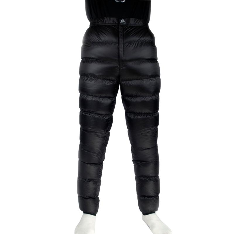 Flamme de glace Léger Hiver 800PF 90% Duvet d'oie Blanche Pantalon Pantalon Bas Pour la Randonnée Camping En Plein Air