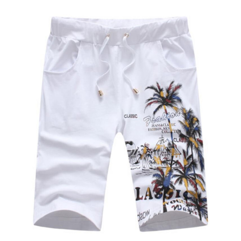 Mens Beaching Shorts Trousers 2019 Fashion Cotton Bodybuilding Sweatpants Sporting Short Jogger Casual Gyms Men White Shorts