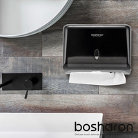 Bathroom Paper Towel Dispenser Holder Tissue Box Button Opening Design Home Hotel Toilet Wall Mounted For Hand Z Folding Paper