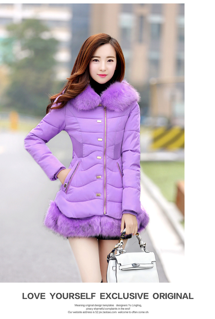 ZW06 2018 winter coat women Hoodies down jacket mid long coat   parkas   thickening Female Warm Clothes