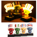 4 Countries Novelty Flag Hat Night Lamp For Children Toy Gift Suitable For Living Room Bedroom Nightlights USB Charging /Battery