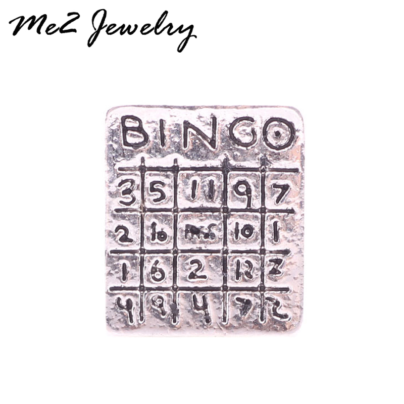2017 wholesale latest Charms Bingo Game Floating Locket charm Fits Lockets For Women Jewelry