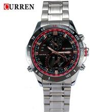 2016 new fashion Curren brand casual business men clock casual steel luxury male wrist quartz army sport watch best gift