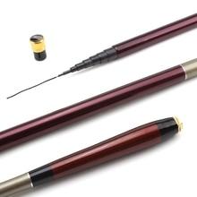 NEW 3.6-7.2M Carbon Telescopic Carp Fishing Rod Fish Hand Ultra Lightweight FiberPole Stream Pole Set