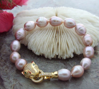 hot sell13 11MM PURPLE SOUTH SEA PEARL BRACELET 7.5 8 inch r Bridal jewelry free shipping