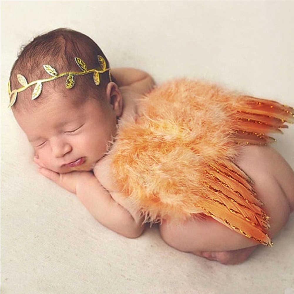 Trajes de recién nacido trajes no tóxicos niñas niños Fotografía accesorios lindos bebés fiesta foto estudio alas de Ángel