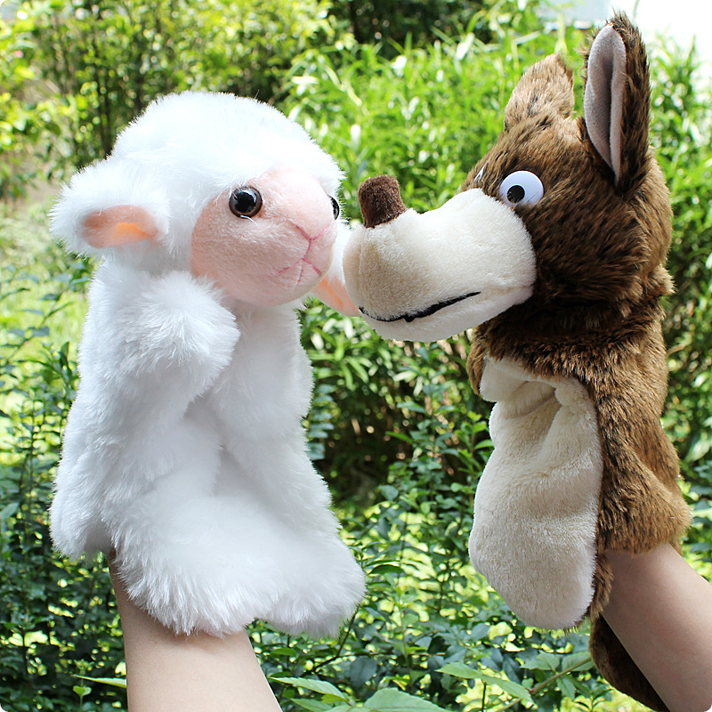 27CM puppet sheep wolf Set mother telling story go...