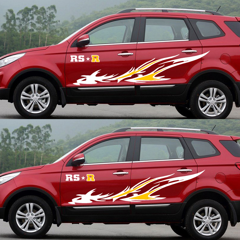 Fire Bird Decoration auto Decor Sticker,car Styling Side refit Vinyl Stickers and Decals for Ford/BMW/Benz/Honda/KIA CEED Rio Decals & Bumper Stickers