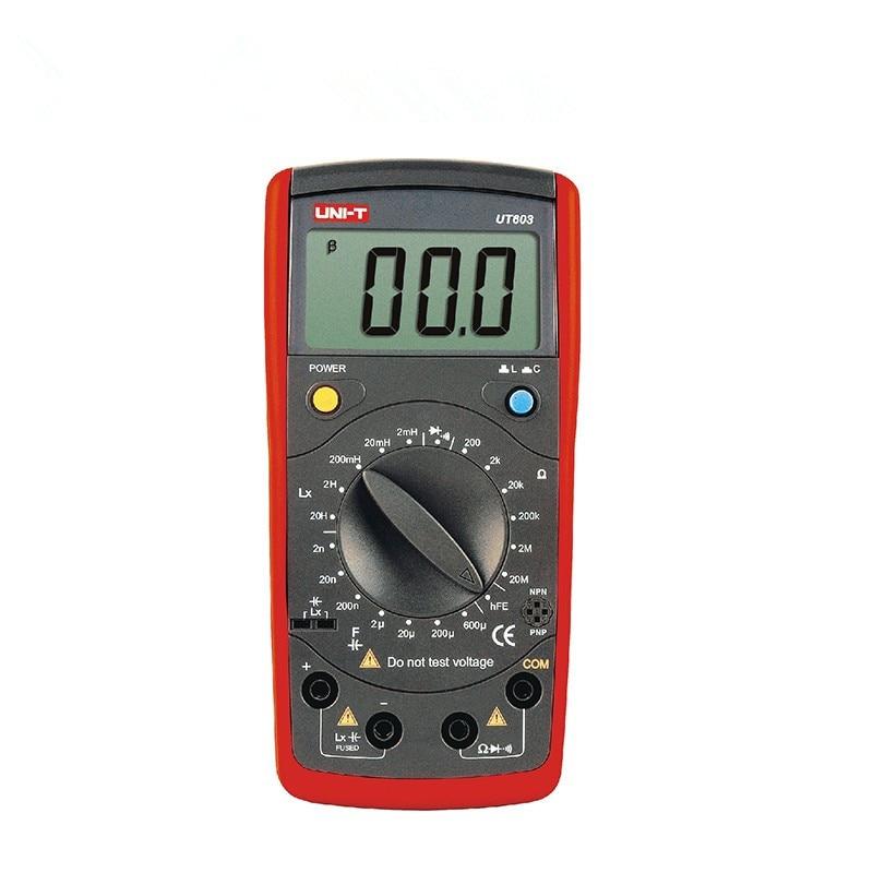 UNI T UT603 Modern Inductance Capacitance Meters Testers UT603 LCR Meter Capacitors Ohmmeter w/hFE Test UT 603 ON SALE