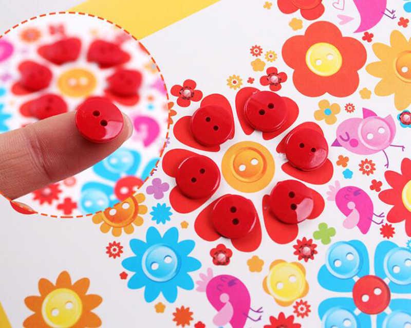 1 PC Per Bambini FAI DA TE Adesivi Button Disegno Giocattolo Fatto A Mano di Scuola Classe di Arte della Pittura di Disegno Disegno Del Mestiere Kit Giocattolo Educativo Dei Bambini di GYH