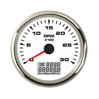85mm Auto Tachometer Tacho Meter Gauge 3K RPM With Red backlight for Car Boat with Backlight LED 0 3000RPM 9 32V 8 color LED