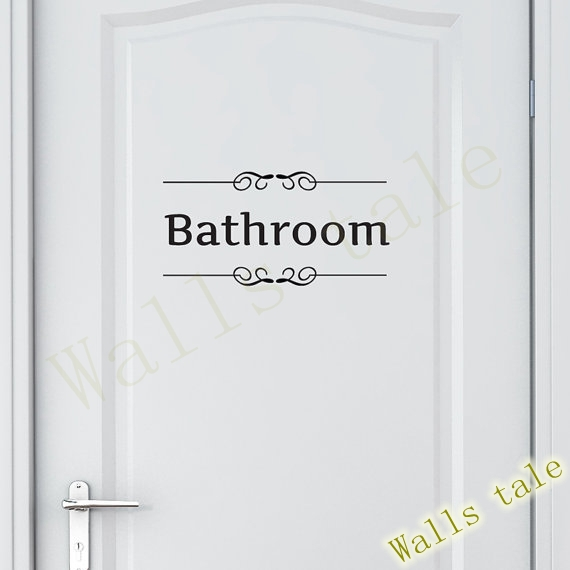 Vintage Wall Sticker For Bathroom-Free Shipping Wall Stickers With Quotes