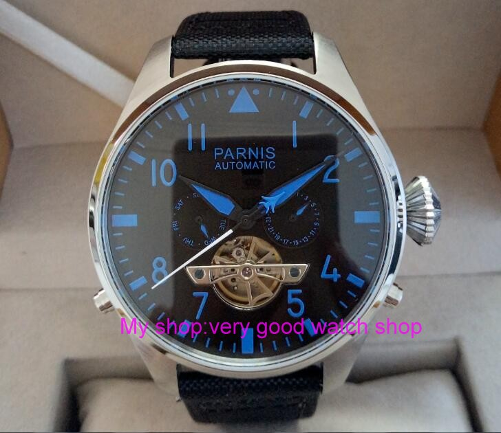47mm big dial PARNIS Asian st25 Automatic mechanical movement men watches Mechanical watches 311a