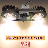 240W led grow light CXB3590 3500K Veg/Bloom Full spectrum No FAN NO Noisy Cold forged radiator heatsink directly use