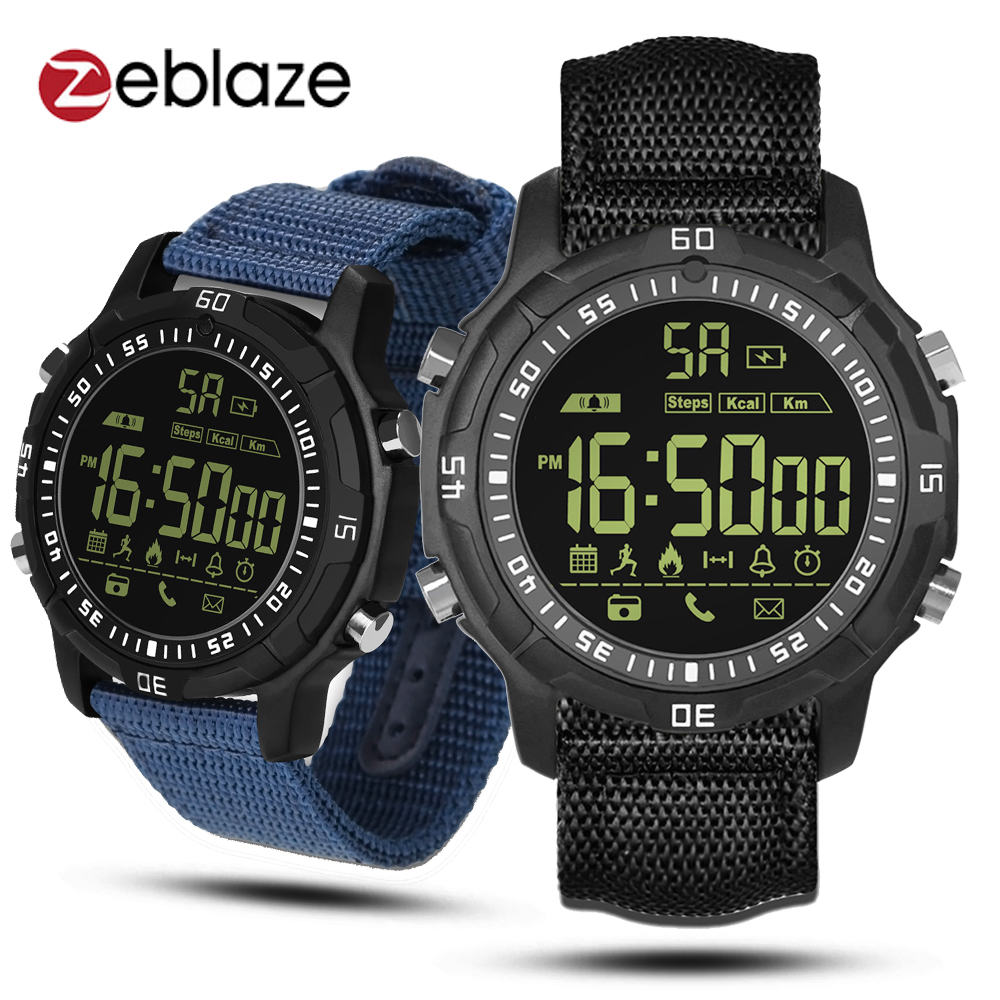 Zeblaze VIBE 2 BT4.0 Smart Sports Watch 5ATM Water-Proof Smart Wrist Band Pedometer Calorie Alarm Reminders For IOS & Android