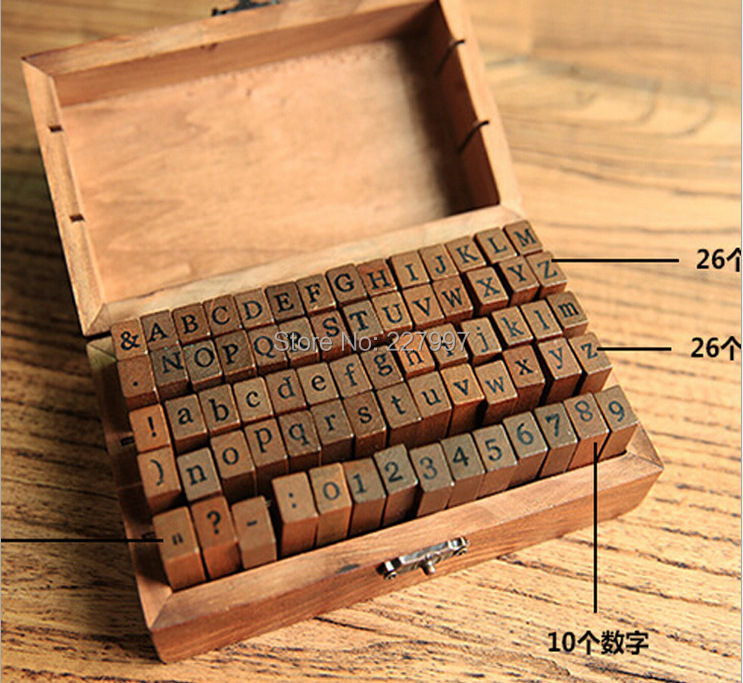 25set 70pcs/set Number and Letter Wood stamp Set/Wooden Box/Multi-purpose stamp/DIY funny work DHL Free shipping casserole set