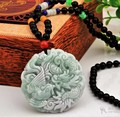 100% Natural Grado A Jade/Jadeíta Colgante/Bless Dragon Phoenix Colgante