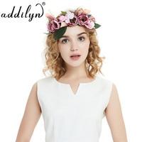 Braut Brautjungfer hochzeit girlande mädchen floral blume crown frauen kopfschmuck schmuck Studio Fotos haarschmuck Zubehör