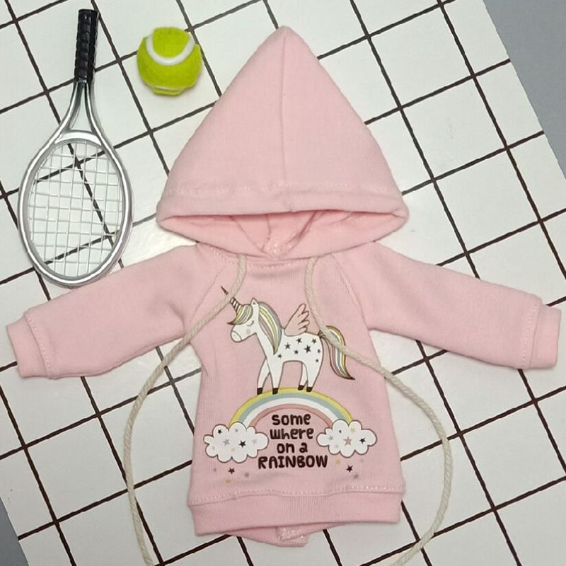 1PCS Doll's Blyth Clothes Cartoon Long-Sleeve Hoodie Hat For Ob24 Azone, Licca, Pullip Clothing For 1/6 Doll Accessories
