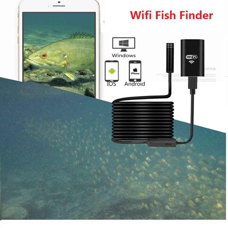 Portable Wifi Fishing Finder Inspection HD Night Vision Camera 10m Cable Underwater Camera Fish Finder Fit for Android iOS Phone