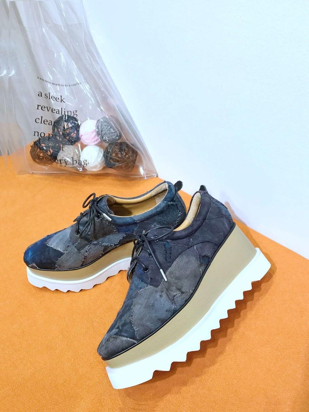 Женская обувь; коллекция 2019 года; зимняя теплая женская обувь на плоской подошве, увеличивающая рост; Повседневные Вечерние туфли на плоско... - 4