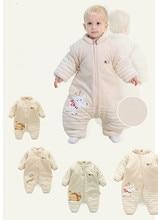 Ребенка спать в осень и зима утолщенной Хлопок Стеганый Спальный Мешок сплит новорожденных детей играть на