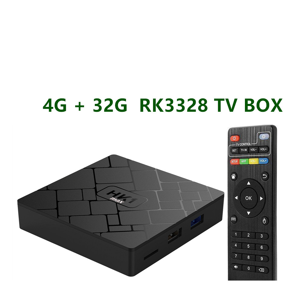 Android 8 1 Smart TV BOX RK3328 4G 32G TV receiver 4K Wifi Media player Play
