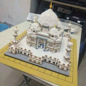 Image 3 - Architecture block set Landmarks Taj Mahal Palace Model Building Blocks Children Toys Educational 3D Bricks Kids Gifts