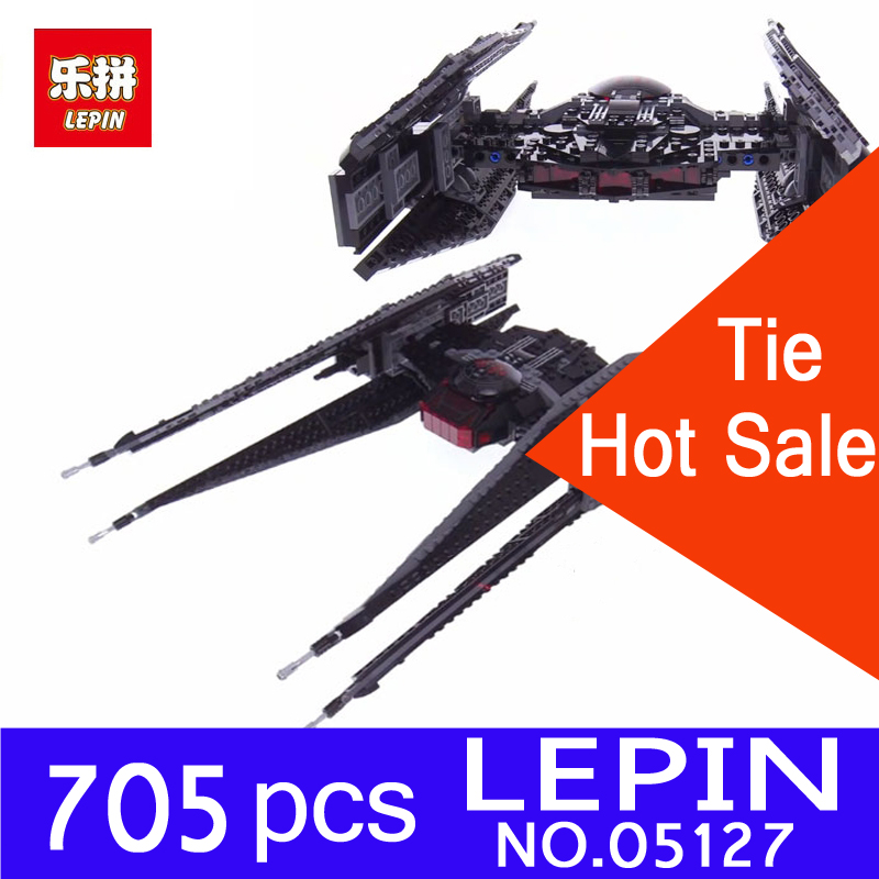 Lepin 05127 The Tie Model Fighter Model 705Pcs Star Set Series 75179 War Building Blocks Bricks Educational DIY Christmas Gifts 2015 high quality spaceship building blocks compatible with lego star war ship fighter scale model bricks toys christmas gift