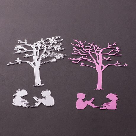 3PCS Tree Kid Metal Cutting Dies Stencil For DIY Scrapbooking Paper Card Template Photo Album Embossing Craft D