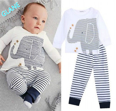 2016 New Toddler Baby Boys Cartoon Clothes Long Sleeve Tops T-Shirt Pants Outfits Sets Infant Bodysuit  Baby Boy Clothes t shirt tops cotton denim pants 2pcs clothes sets newborn toddler kid infant baby boy clothes outfit set au 2016 new boys