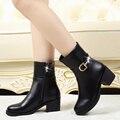 Zapatos de algodón de invierno en los ancianos, además de cachemira con botas de mujer en la edad media de las mujeres suaves zapatos de invierno