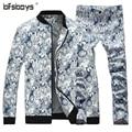 2016 весна Осень Новый мужской Пиджак Британский Стиль Повседневная одежда Куртка + Брюки 2 шт. наборы мужская верхняя одежда бесплатная Доставка