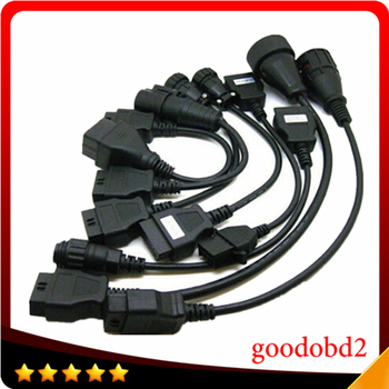 Truck Full Set TCS Truck 8 Cables CDP PRO Scanner Connecter Diagnostic Cable for VD600 CDP+ OBD2 Diagnostic Tool Connect Cable 2020 latest tcs cdp pro plus for delphi ds150e cdp cars trucks obd2 diagnostic tools for autocom with full set 8 cables