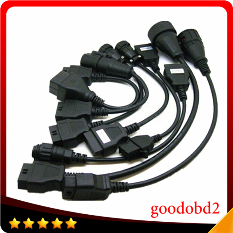 Truck Full Set TCS Truck 8 Cables CDP PRO Scanner Connecter Diagnostic Cable for VD600 CDP+ OBD2 Diagnostic Tool Connect Cable