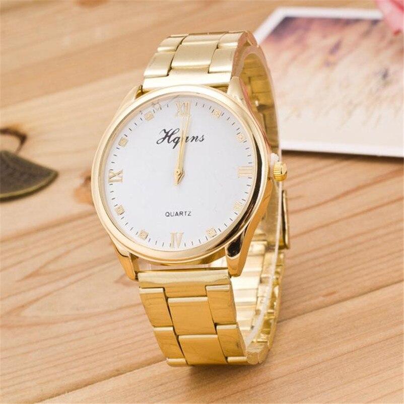 Luxury Watch Women Roman Numerals Quartz Golden Stainless Steel Wrist Watch Clock ladies Gift Watch Reloj Mujer Pulsera