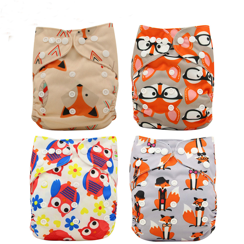 Baby Unicorn Nappy Changing Character Print Cloth Diapers Unisex Reusable Nappies Ohbabyka Diapers Cover Baby Shower Gifts