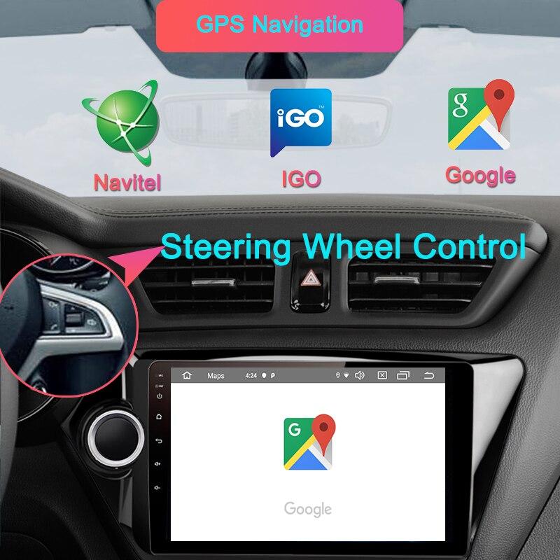 Navivox Android9.0 autoradio 2 Din voiture DVD GPS pour kia k2 Rio 2010 2011 2012 2013 2014 2015 2016 2017 Radio magnétophone Navi - 2