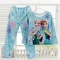 2017 Plush Flannel Anna Elsa Children Pajamas Sets Unisex Boys Girls Sleepwear Clothes Pyjamas Spring Warm Baby Nightwear pajama