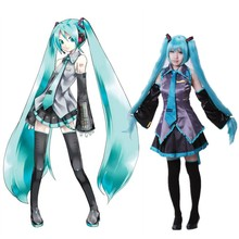 7piece NEW Cosplay Hatsune Miku Maid costume suit Wig Halloween Comic-con Party