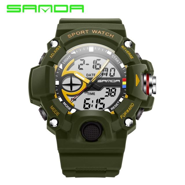 2016 Men Watches Digital watch Top Brand SANDA Luxury Men's Sport Watches relogio masculino Male Clock Military Wristwatch