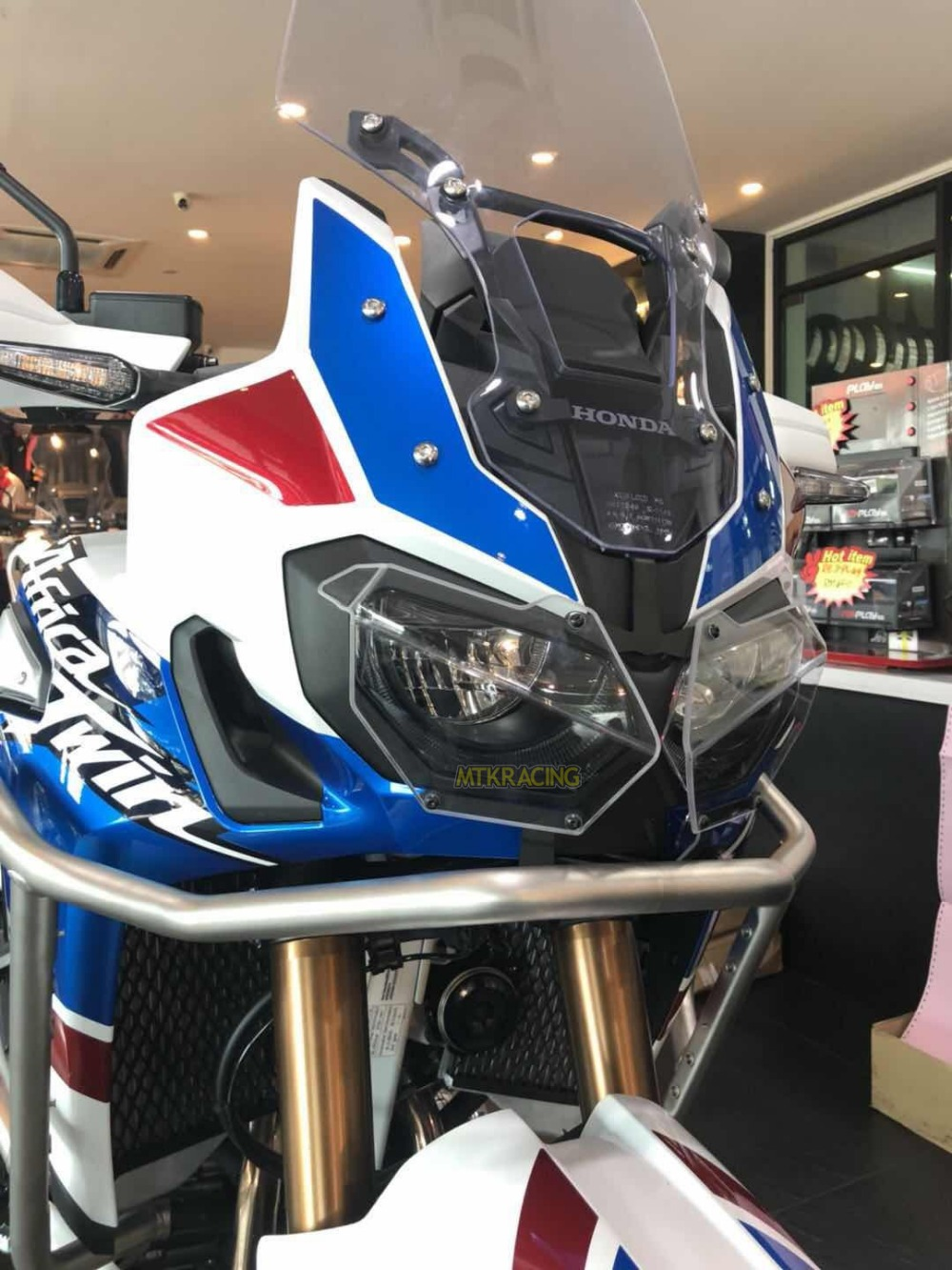 MTKRACING For Honda CRF1000L CRF 1000L CRF1000 L Africa Twin 2014-2018 Motorcycle modification Headlight Cover Protector