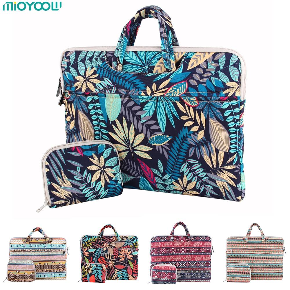 все цены на Fashion Laptop Bag for MacBook Air Pro 13 11 15 15.6 inch Canvas PC Notebook Case Laptop Sleeve Handbag for woman man Computer онлайн