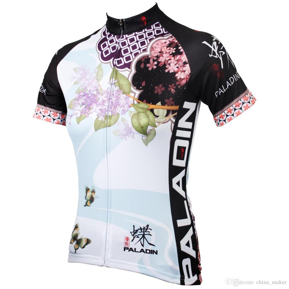 176 Hot Selling Hot cycling jerseys Colorful Lilac Flowers Summer Cycling Jersey 2017s Healthy cycling Female adequate quality S 176 hot cycling jerseys magnolia flowers hot cycling jersey 2017s anti pilling female adequate quality sleeve cycling clothing f