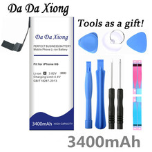 Da Da Xiong 3400mAh High Capacity Battery For Apple iPhone 6 for iphone 6G battery Free Tools
