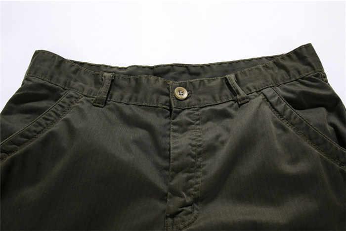 2019 Mens Military Cargo Shorts Sommer Armee Grün Baumwolle Shorts Männer Lose Multi-Tasche Shorts Homme Casual Bermuda Hose 40
