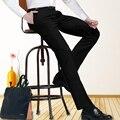 Calças dos homens de negócios de longo 120 cm de comprimento Slim Fit Reta calças Terno Formal de Trabalho do reino unido para os homens feitos sob medida de altura calças oversize