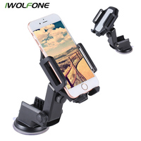 IWOLFONE Windshield Dashboard Car Phone Holder For GPS Smartphone Stand Universal Car Phone Mount Stand 360